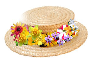 Straw Hat clipart bonnet Clipart egg collection Hat Easter