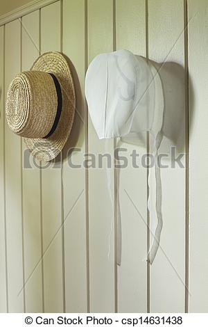 Straw Hat clipart bonnet Csp14631438 on Stock of hat