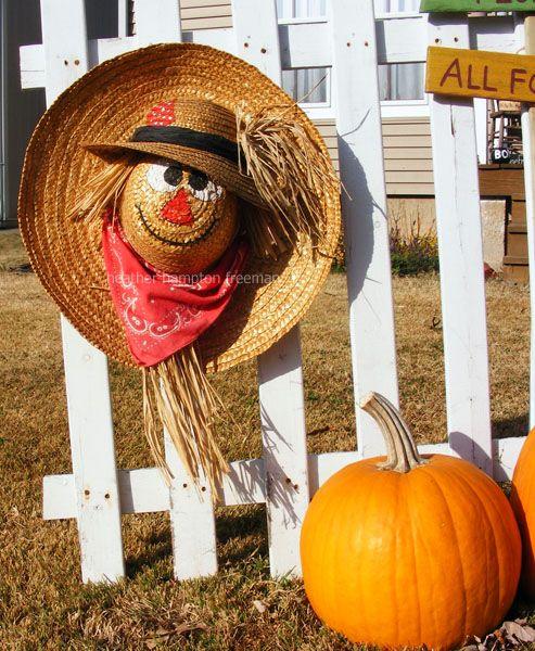 Straw Hat clipart scarecrow hat #14