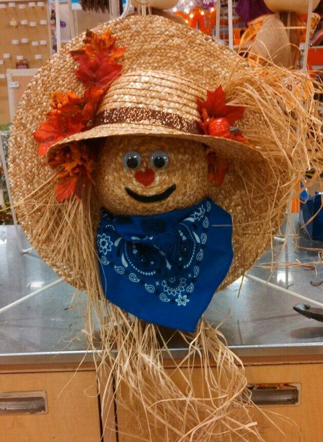 Straw Hat clipart scarecrow hat #10