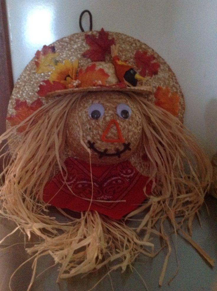 Straw Hat clipart scarecrow hat #8
