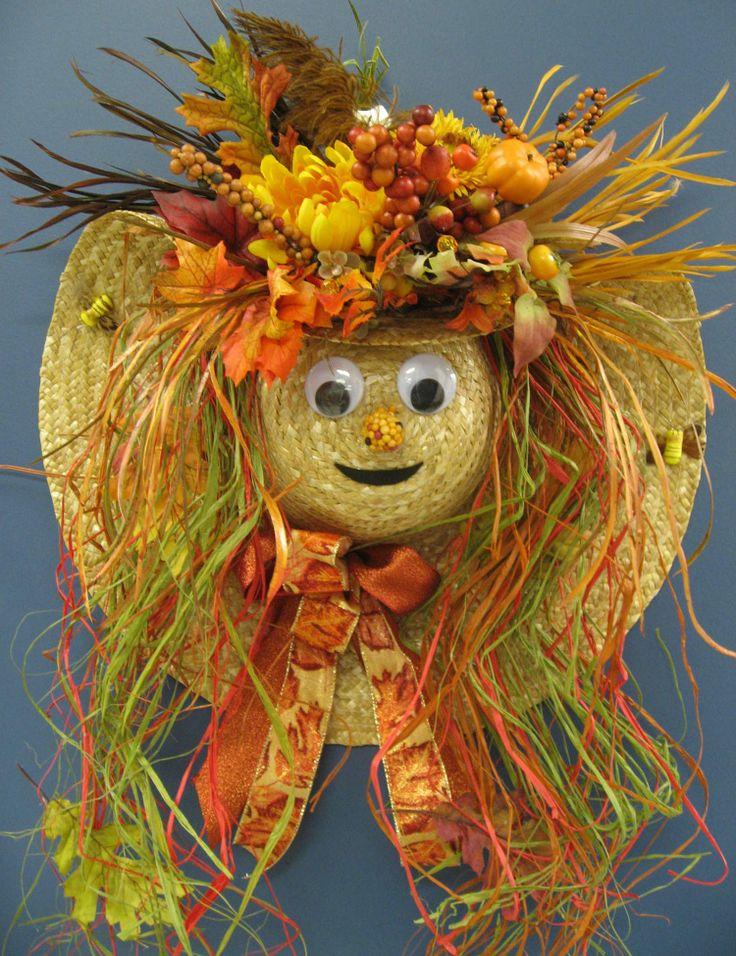 Straw Hat clipart scarecrow hat #13
