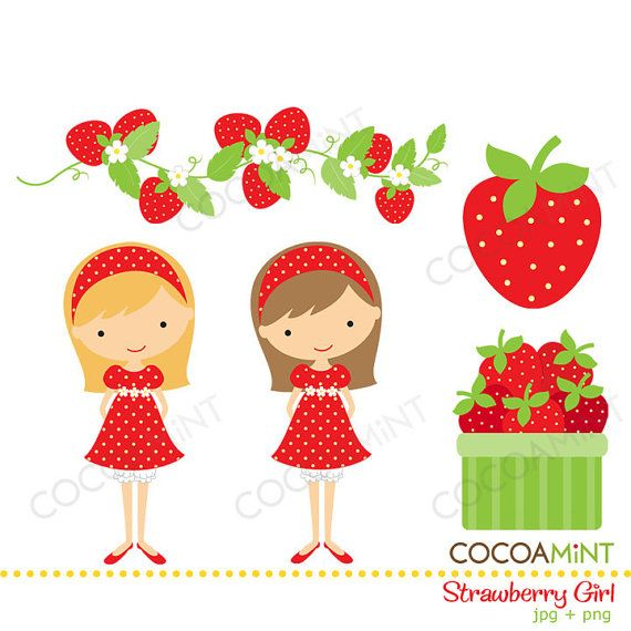 Iiii clipart strawberry Art images and Embroidery 2518