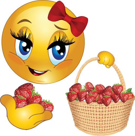 Chick clipart emoticon On SMILEYS Girl 616 Strawberry