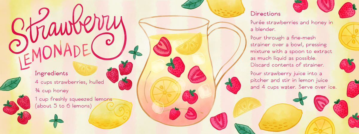 Lemon clipart strawberry lemonade Draw They & by Strawberry