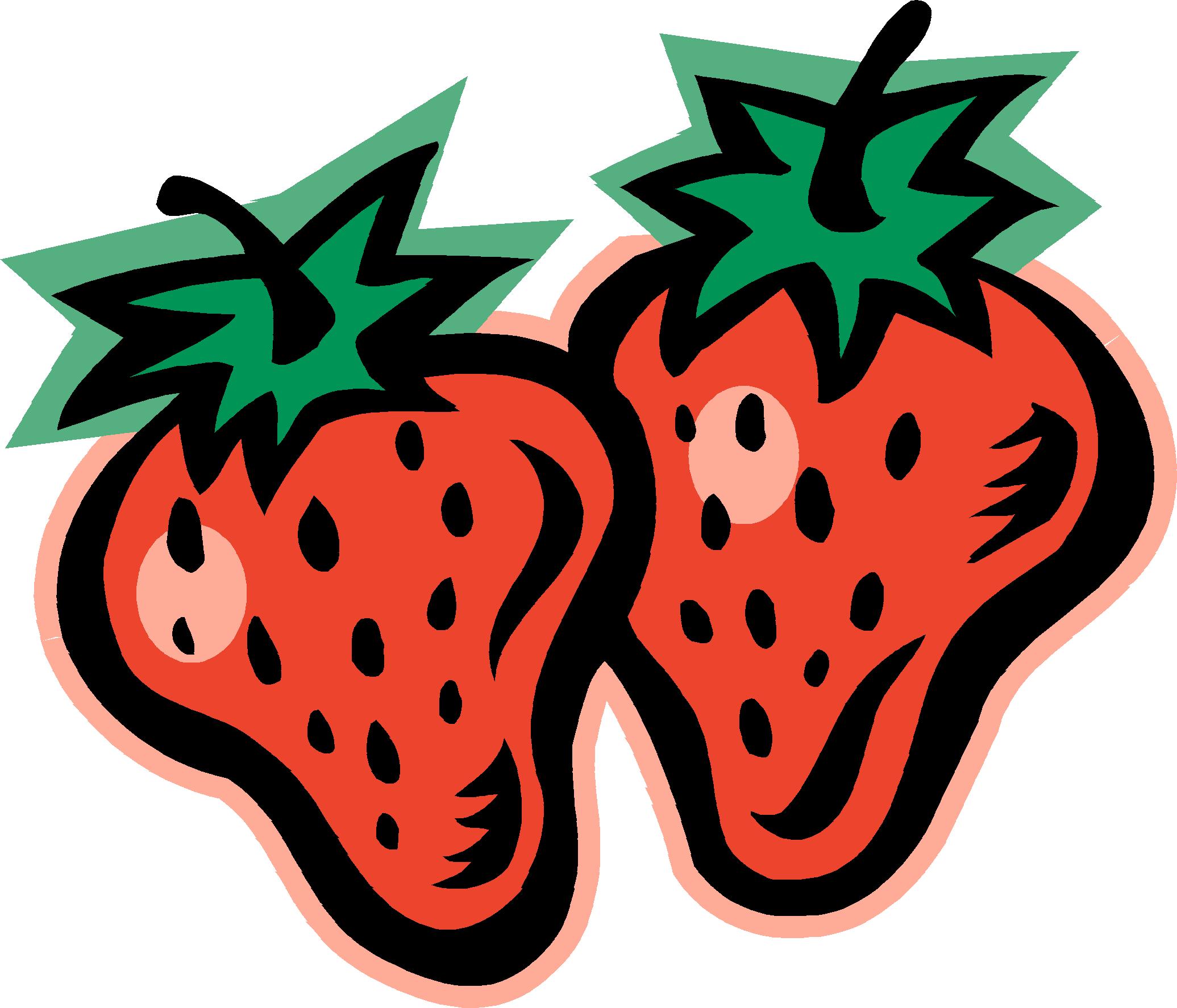 Black clipart strawberry Border Art  Clipart Clip
