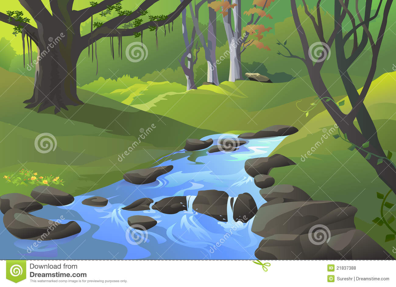 Sream clipart mountain scenery Free Stream Clipart Clipart Images