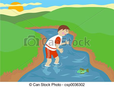 Sream clipart river pollution Stream Boy  Stream Clip