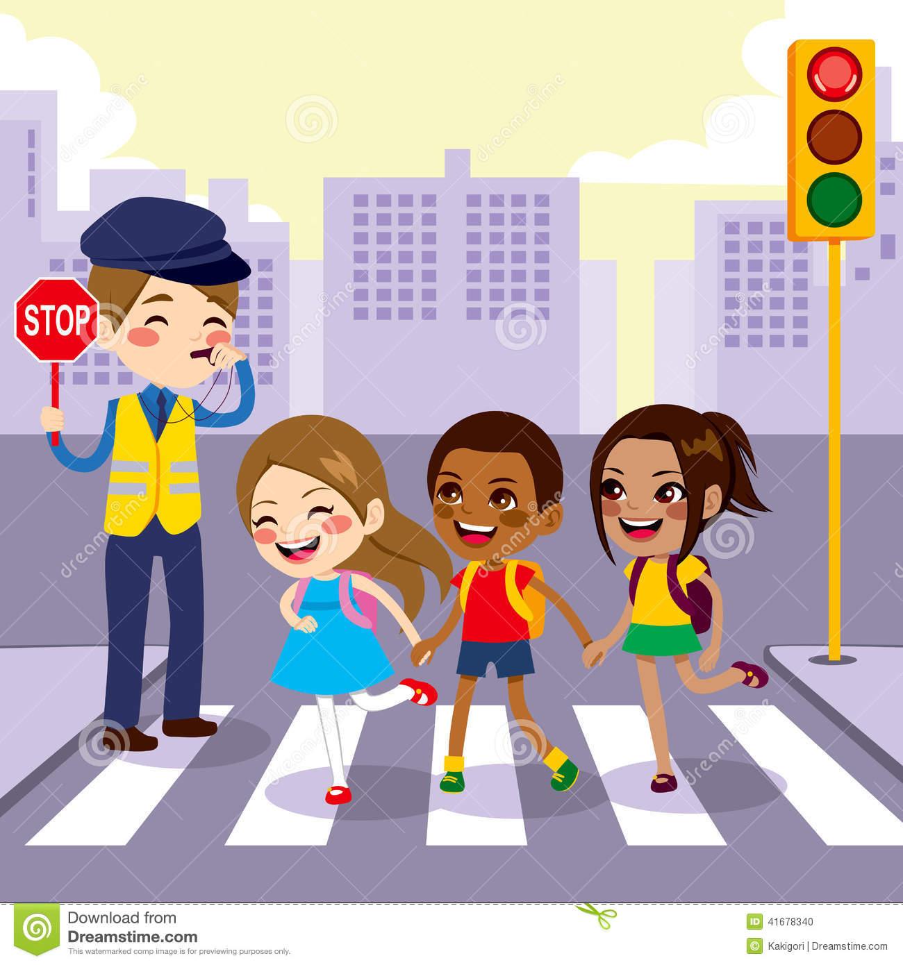 Zebra clipart road People road School crossing Clip