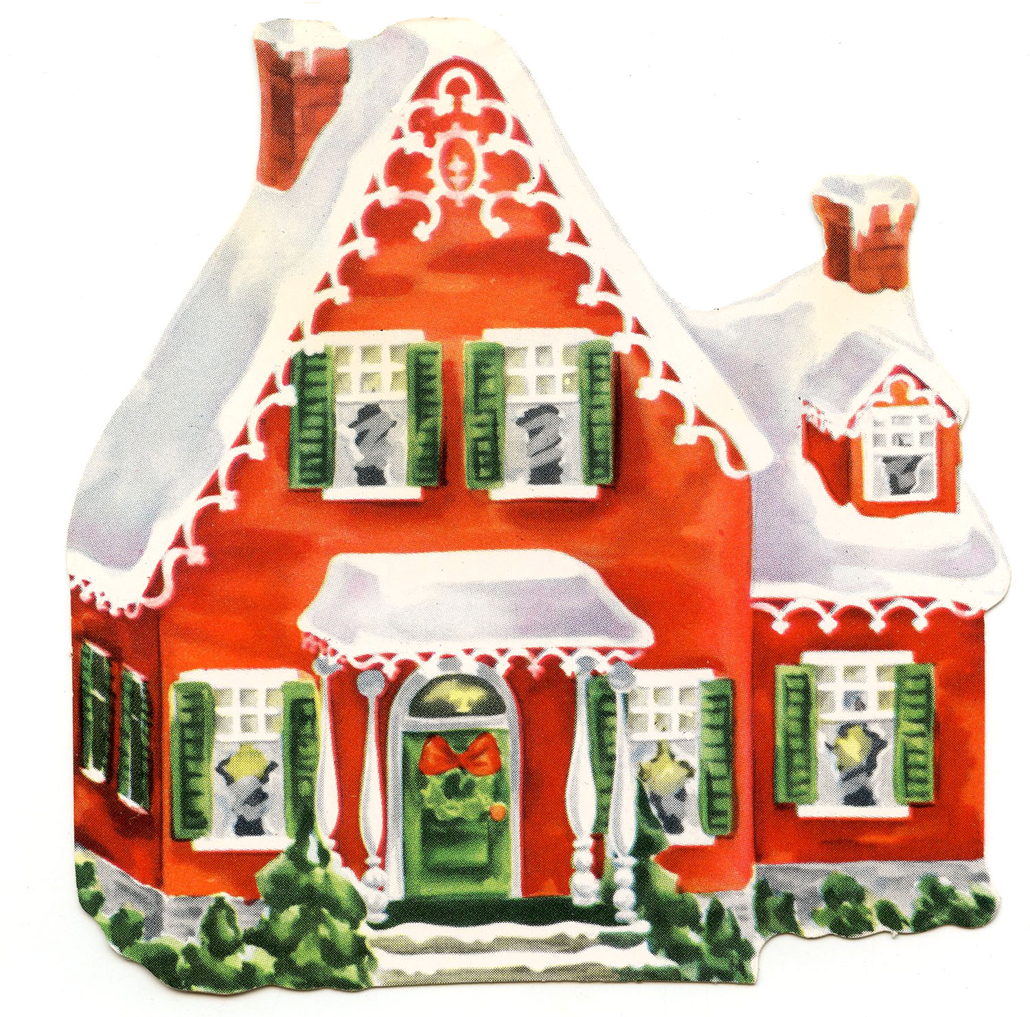 Cottage clipart christmas cottage Christmas Street Free Free