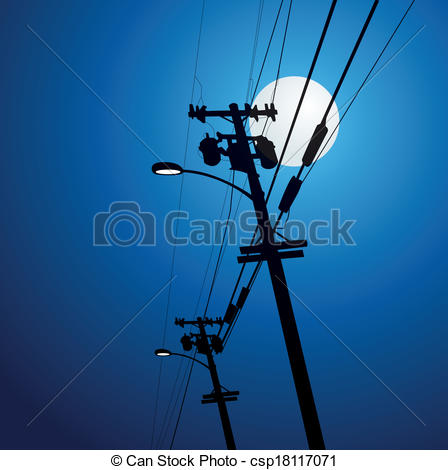 Streetlight clipart electricity post Electricity csp18117071 Illustration of