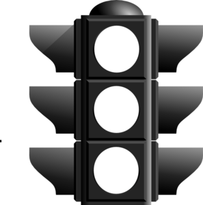 Traffic clipart black and white #1