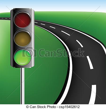 Traffic Light clipart street light And traffic with Vector Frame