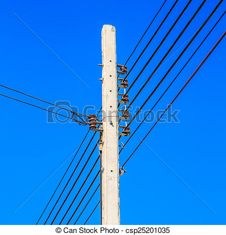 Streetlight clipart electrical pole Pole power Photo  Wire