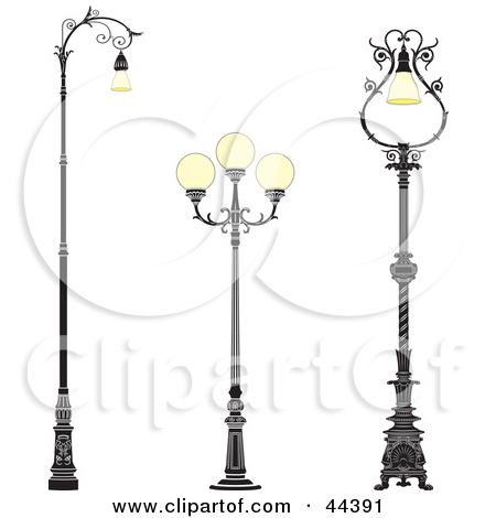 Streetlight clipart vintage lamp By lamp Collection Clipart On