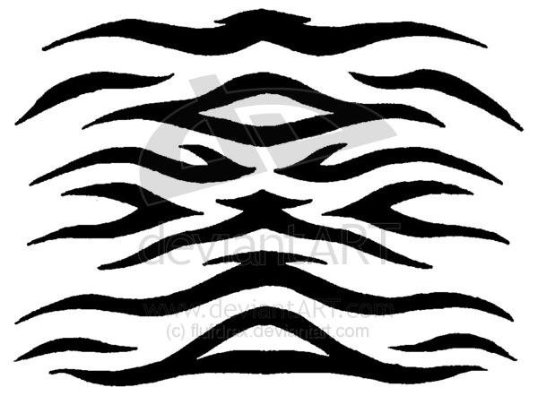 Stripe clipart camouflage Stencil tiger stencil Tiger Stripe