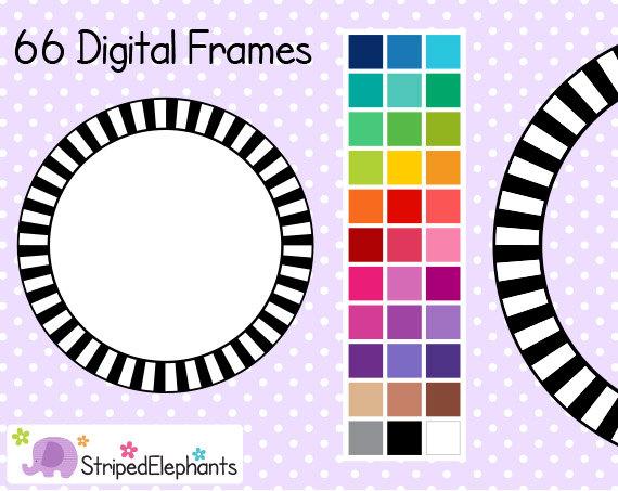 Stripe clipart frame #13