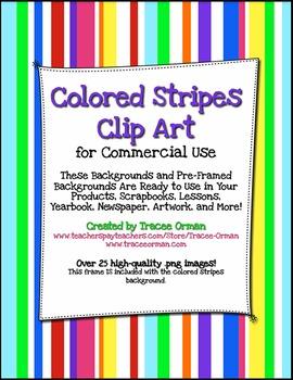 Stripe clipart frame #6