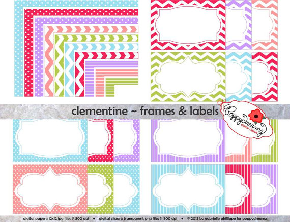 Stripe clipart frame #3