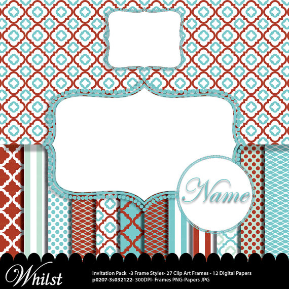 Stripe clipart frame #11