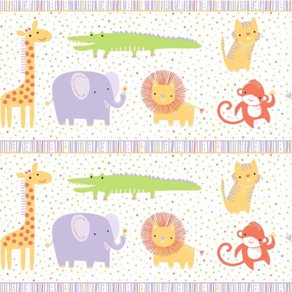 Stripe clipart jungle animal Cotton Animal Safari Lavender Sweet
