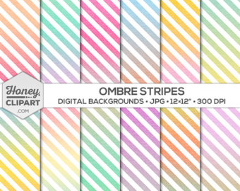 Stripe clipart pastel yellow Etsy to ombre images: sell