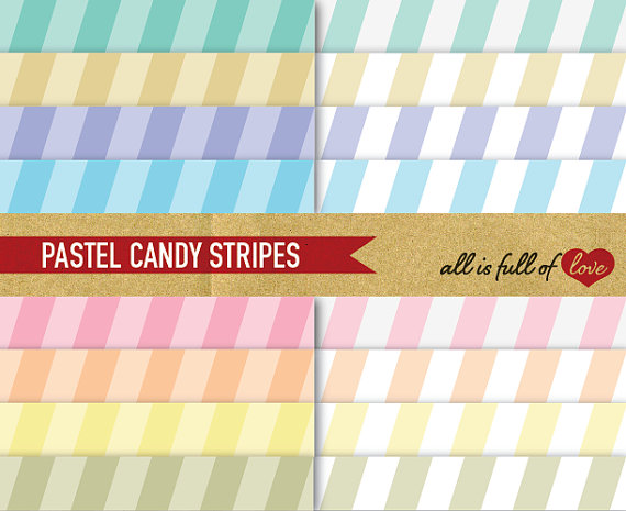 Stripe clipart pastel yellow Mother's Digital Pastel Patterns STRIPES