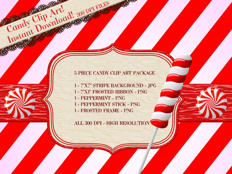 Stripe clipart peppermint #6
