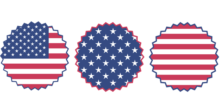 Stripe clipart red and blue Blue 510 clipart button patriotic