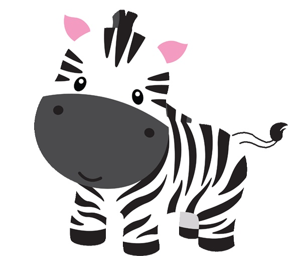 Baby Animal clipart hand drawn Zebra Clipart Zebra Baby cliparts