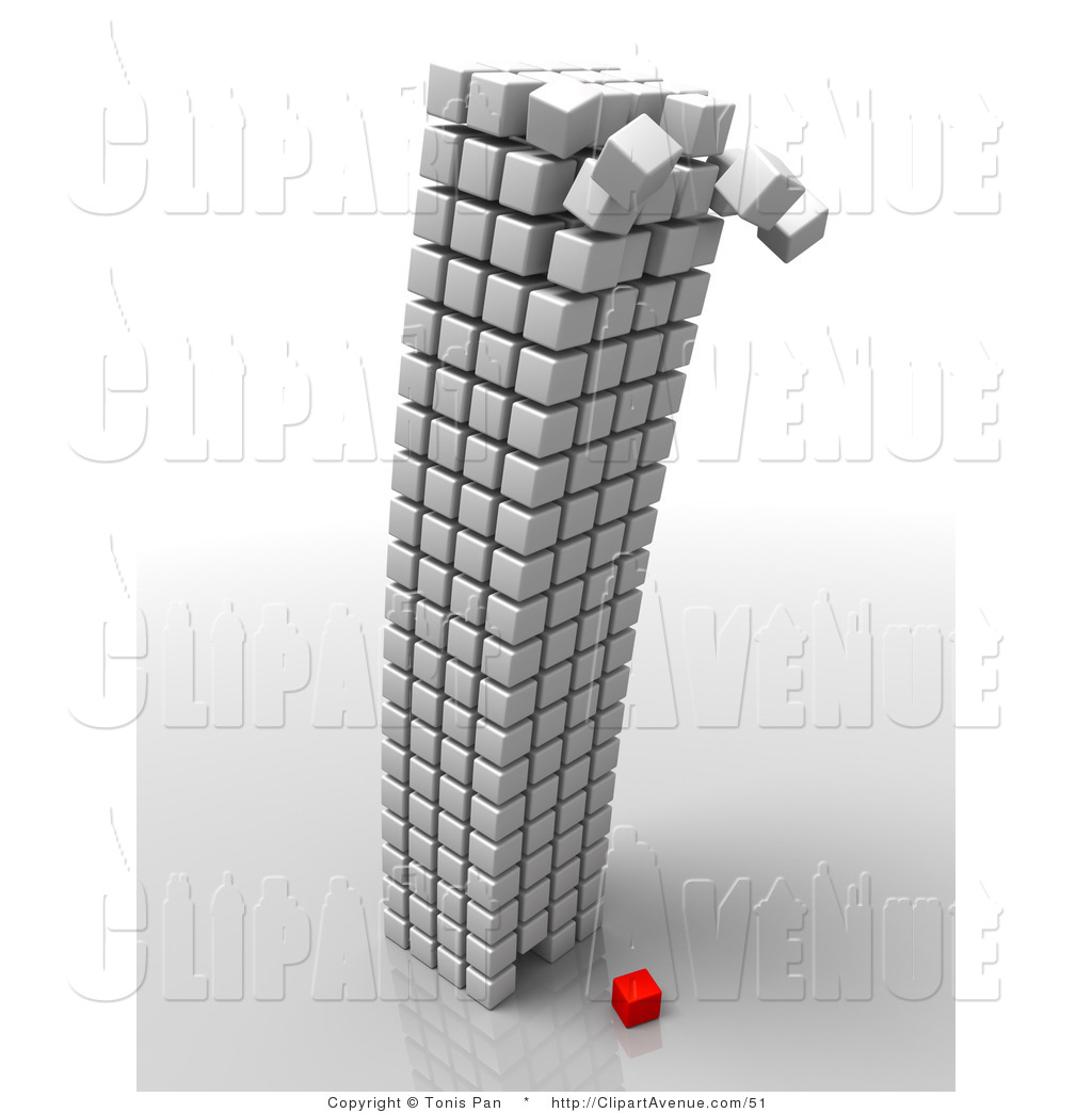 Structure clipart corporate building Royalty Designs Red White One