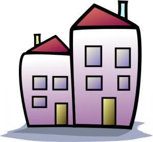 Structure clipart apartment building Art Apartment Download Building Clip