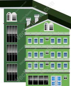 Structure clipart apartment complex Skyscraper Level Green  Multiple