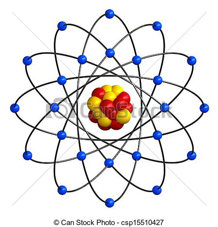 Structure clipart atoms and molecule Render of  Art csp15510427