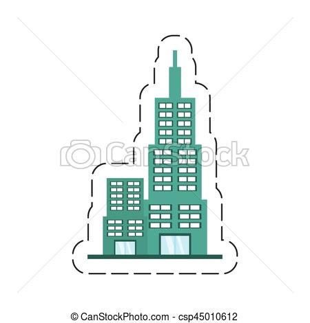Structure clipart building design Modern structure Vector vector