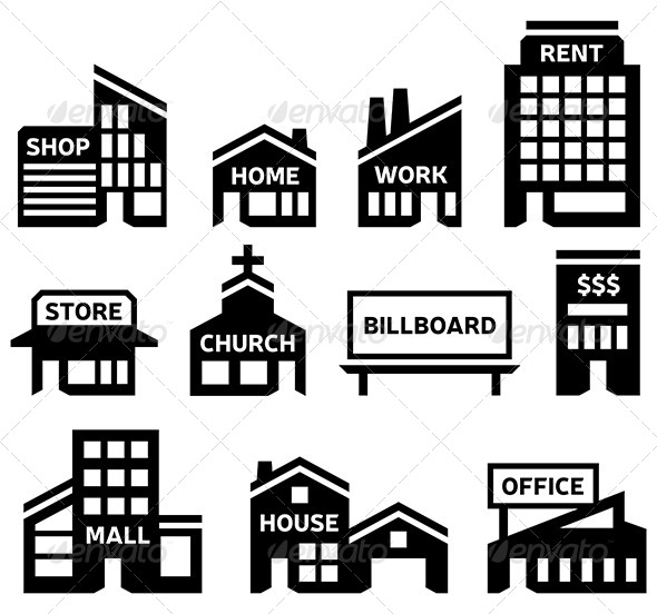 Structure clipart commercial property Shopping filolif Symbols Building Symbols