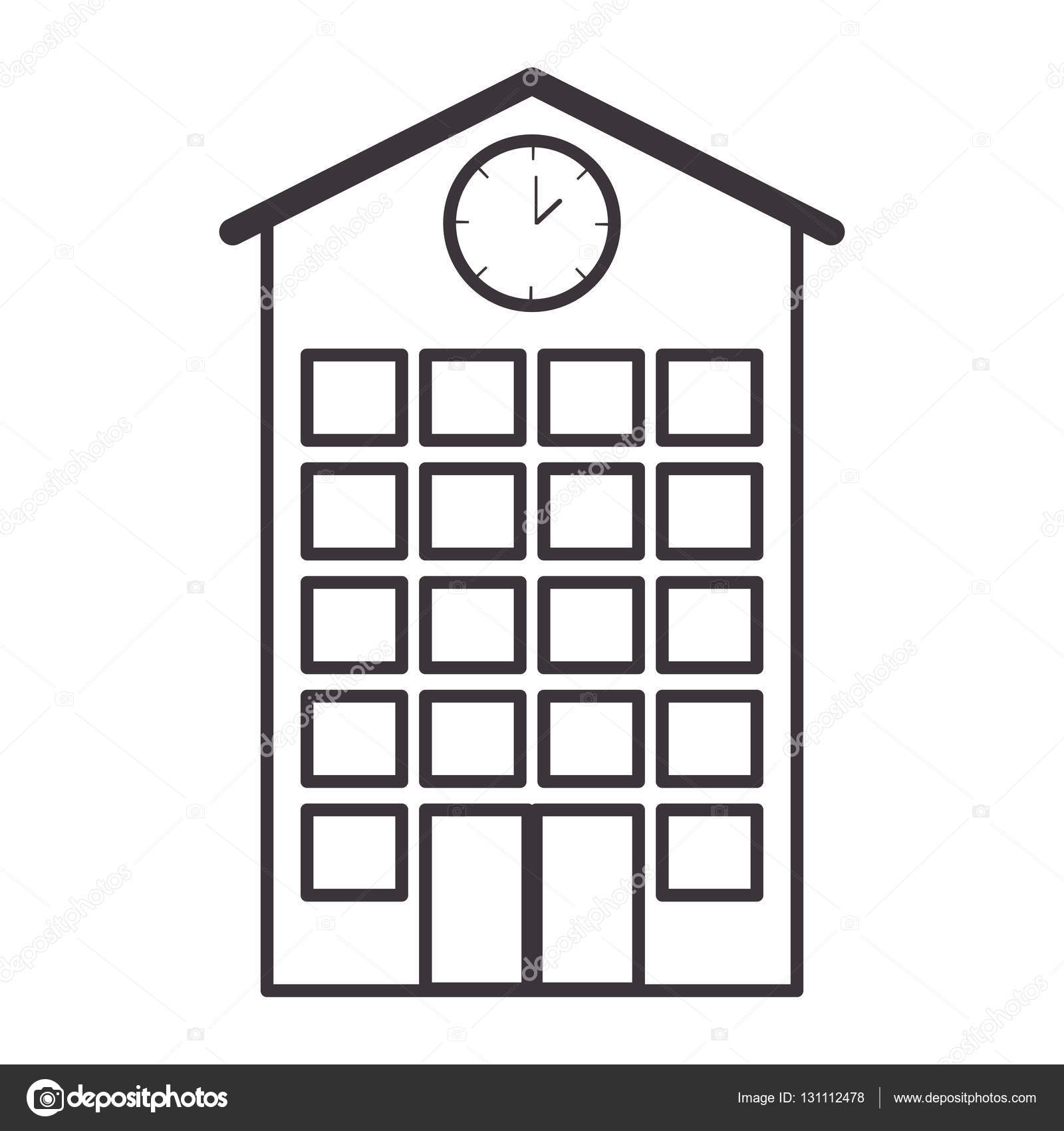 Structure clipart high With — Stock — clock