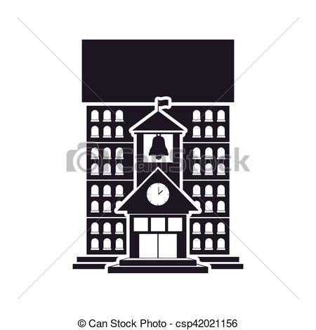 Structure clipart high School with bell bell with