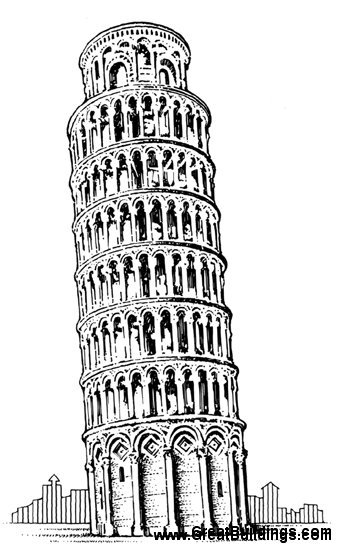 Structure clipart leaning tower Leaning Drawing the Drawing of