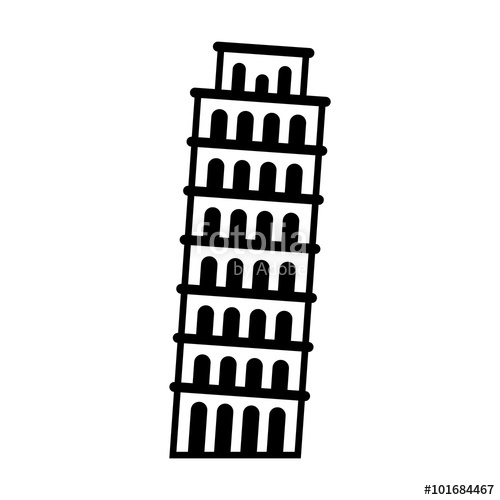 Structure clipart leaning tower Of Tower icon Tower for