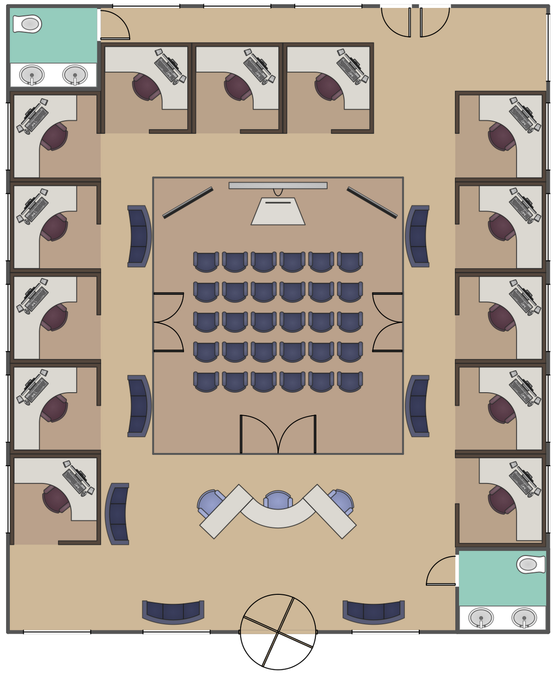 Structure clipart office block ConceptDraw Floor Office Solution Cabinet