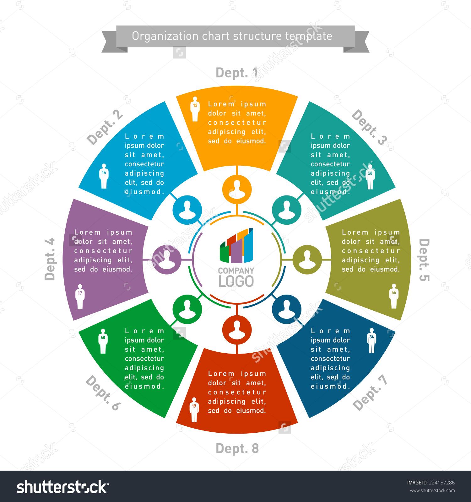 Structure clipart organizational design Round structure template Organizational structure