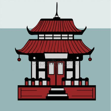 Asians clipart buddhist temple Or structure a of religious