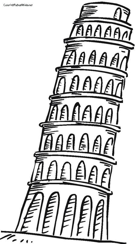 Structure clipart pisa Google Pisa Pinterest drawing pisa