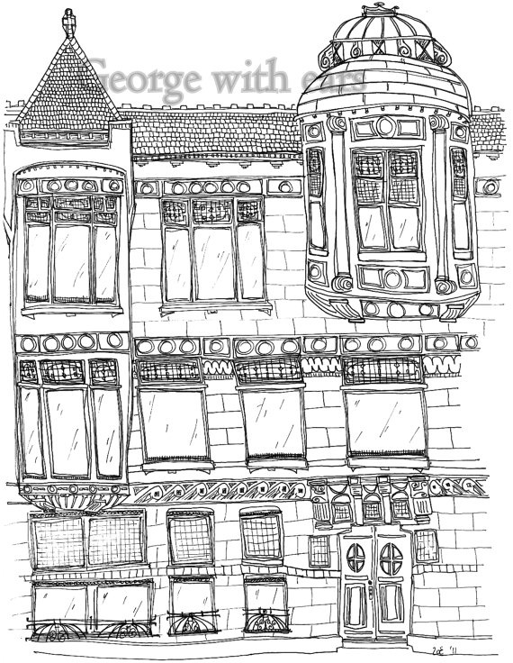 Structure clipart row shop Structure Houses and and shop
