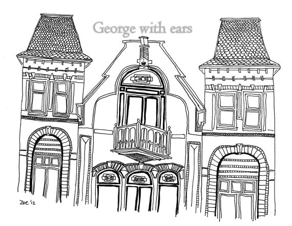 Structure clipart row shop 00 Houses and buildings post