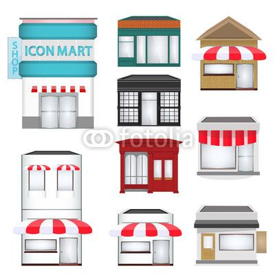 Structure clipart shop Shop town Coffee on images