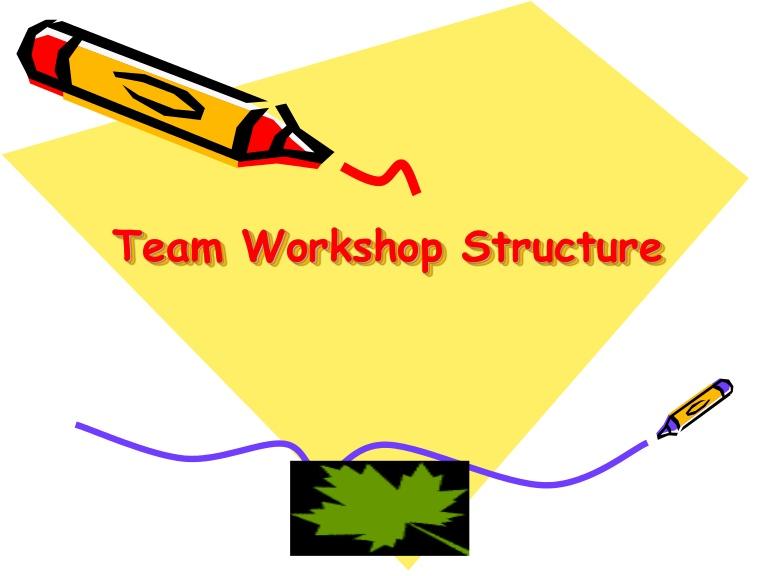Structure clipart workshop Team  workshop