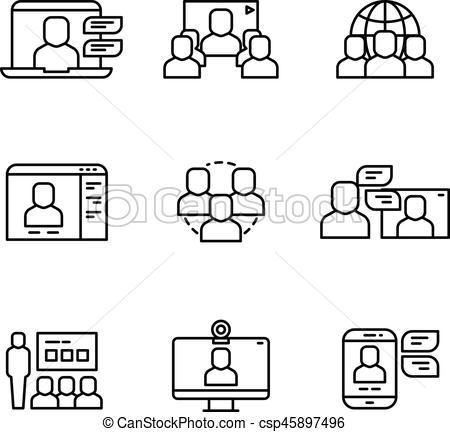 Structure clipart workshop Workshop online of communication EPS