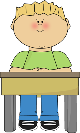 Desk clipart cute student Student  School Student Card